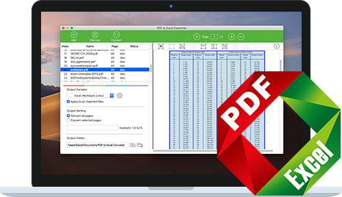 PDF to Excel Converter for Mac