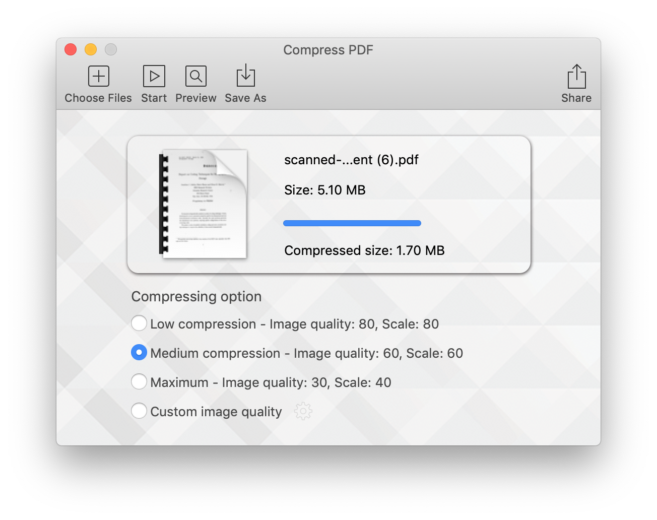 Compress PDF for Mac Screenshot 1