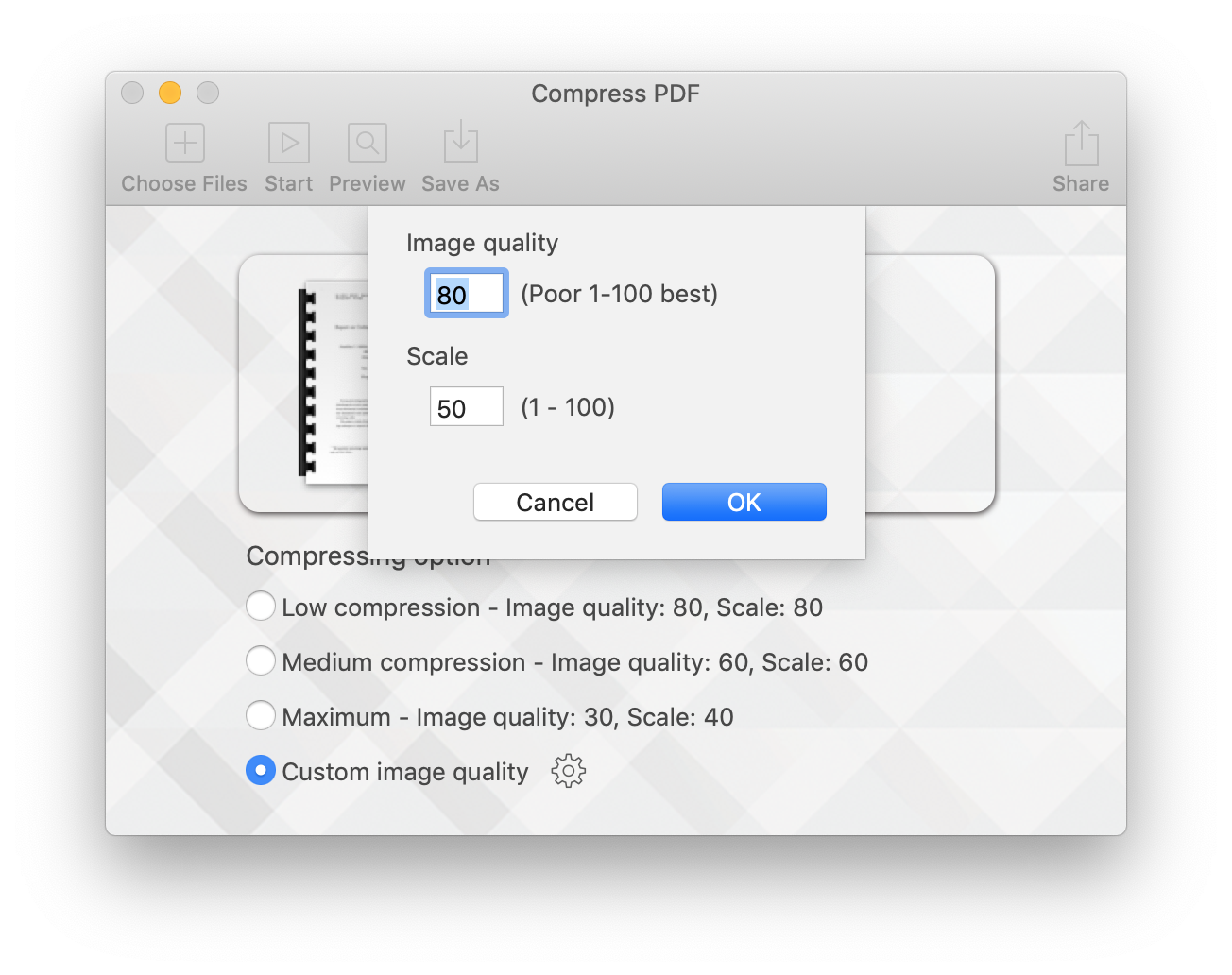 Compress PDF for Mac Screenshot 2