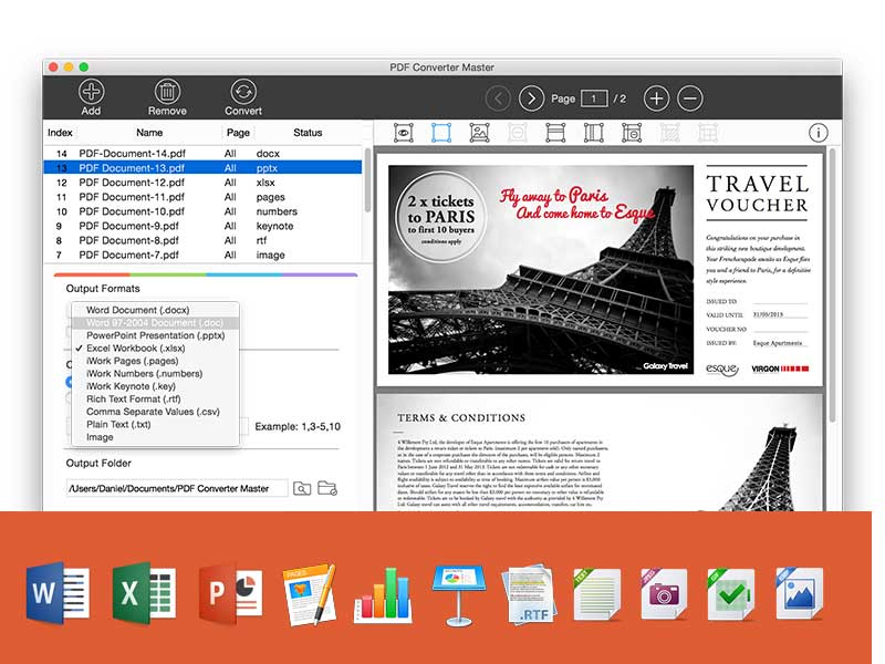 PDF Converter Master for Mac Screenshot 2