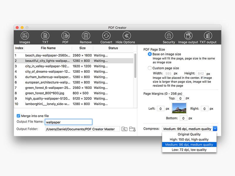 screenshot for lighten pdf creator for mac 1
