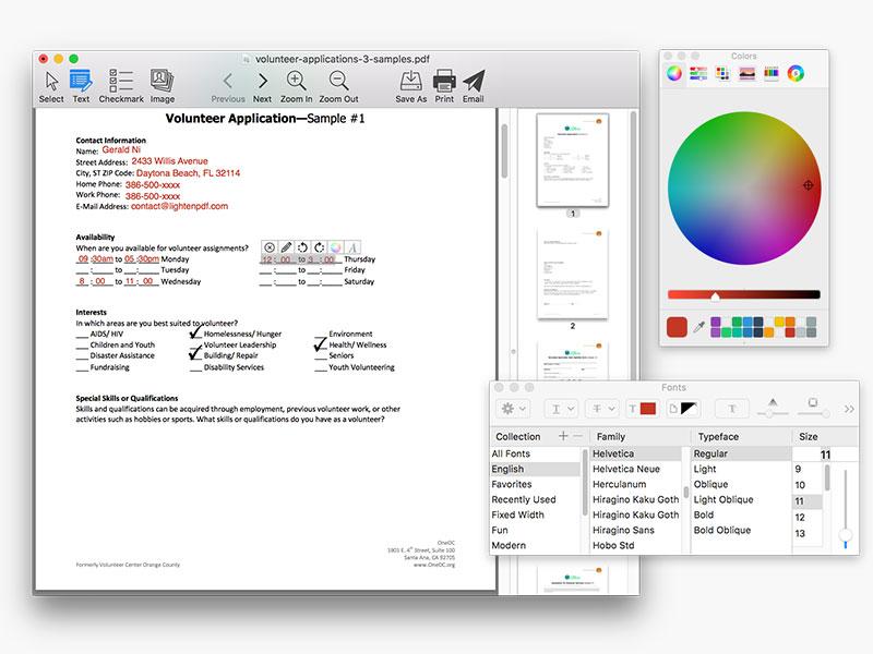 screenshot of PDF Form Filler 1