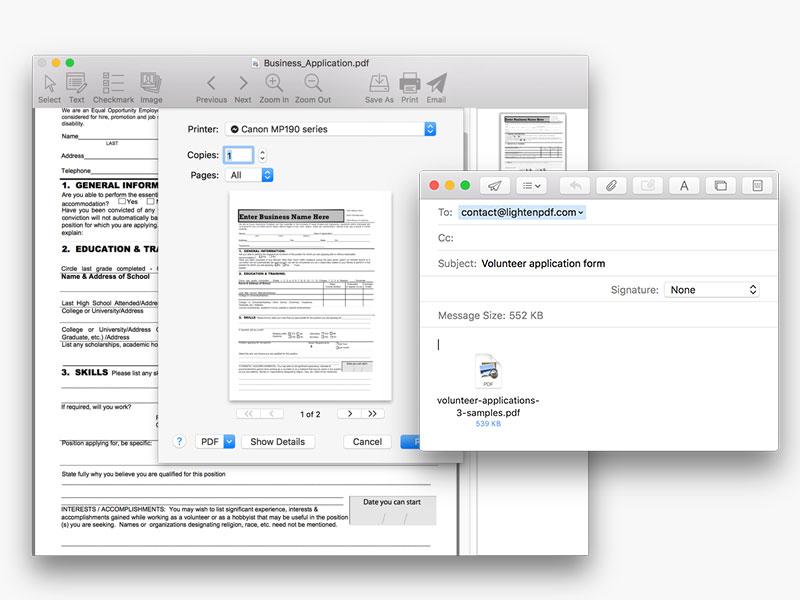 screenshot of PDF Form Filler 2
