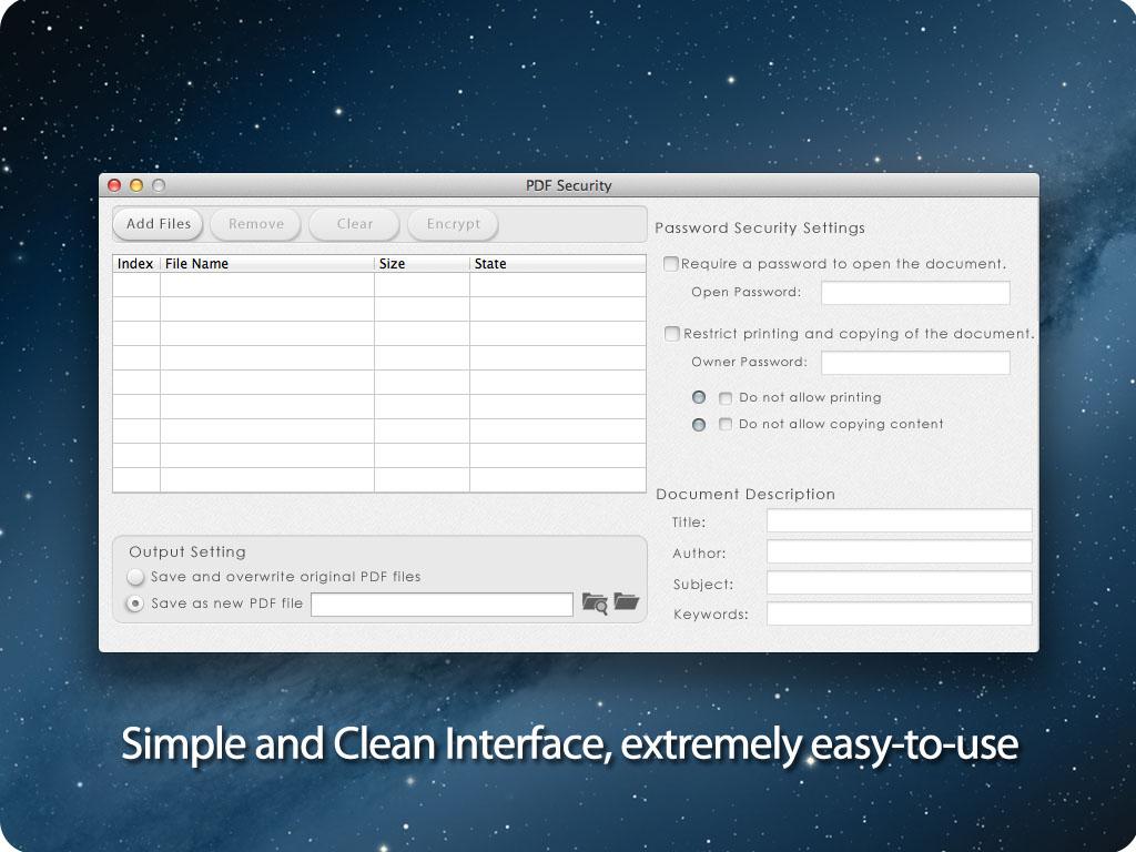 PDF security for Mac screenshot 1