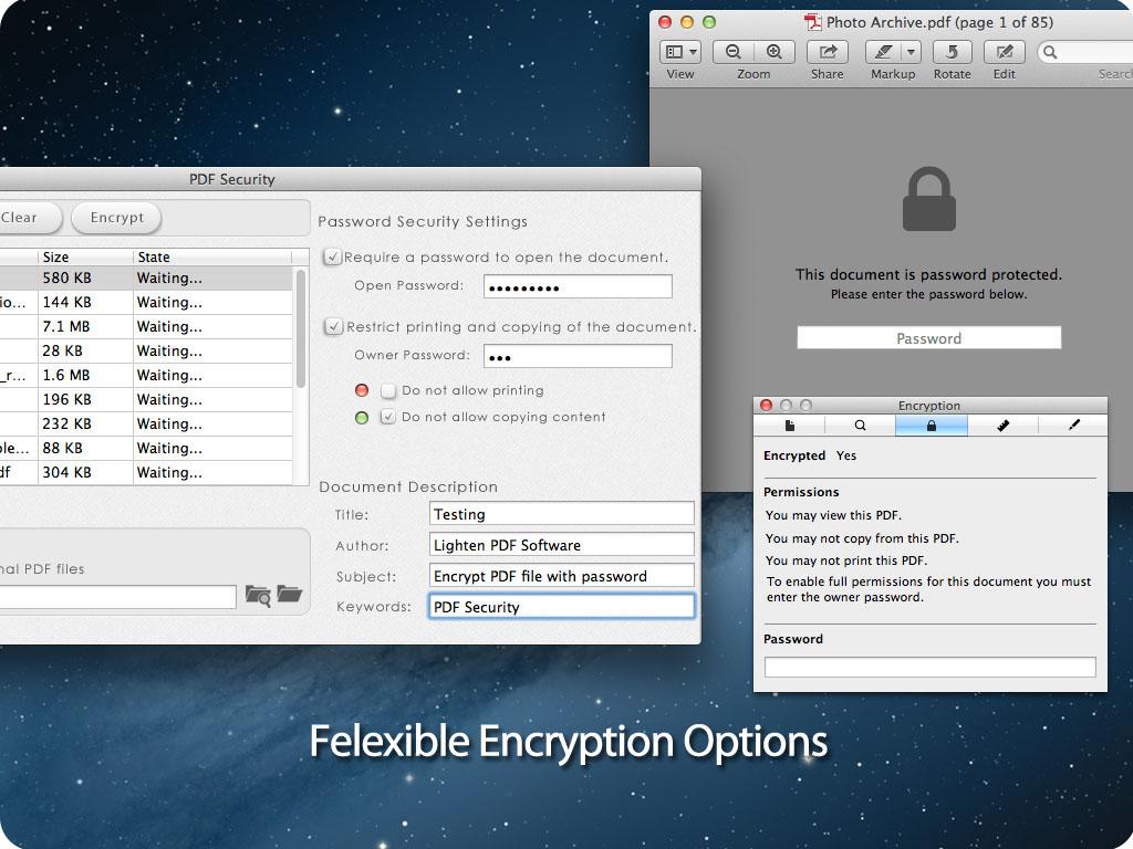 PDF security for Mac screenshot 3