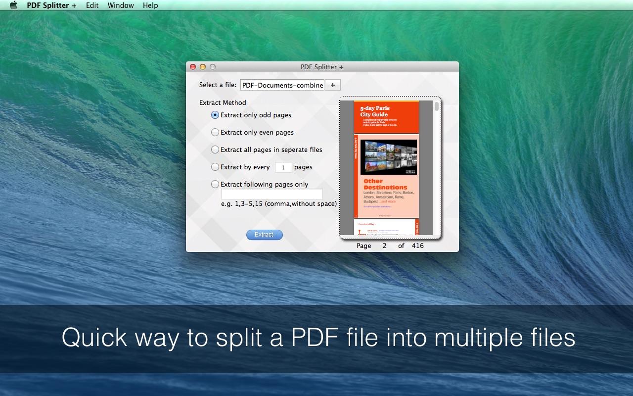 PDF Splitter for Mac Screenshot