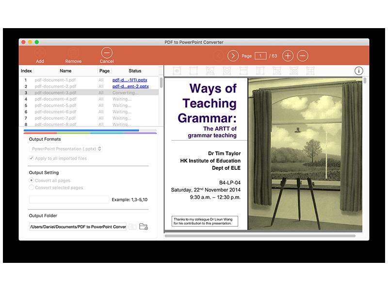 PDF to PowerPoint for Mac screenshot 2