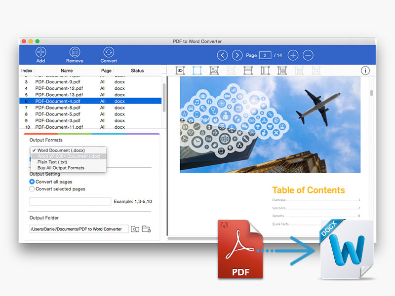 PDF to Word Converter for Mac screenshot 1