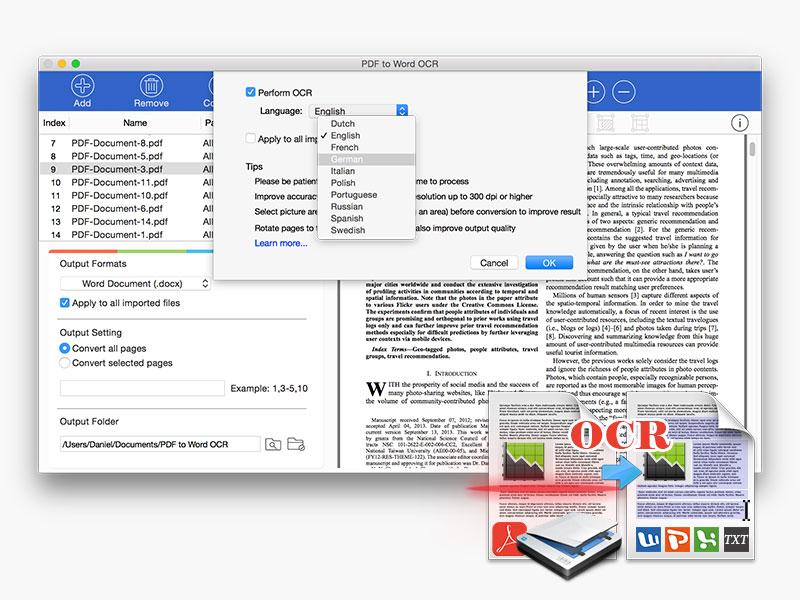 PDF to Word OCR for Mac Screenshot 3