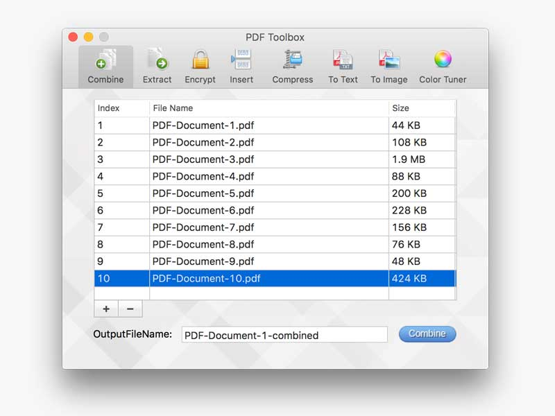PDF toolbox for Mac screenshot 1