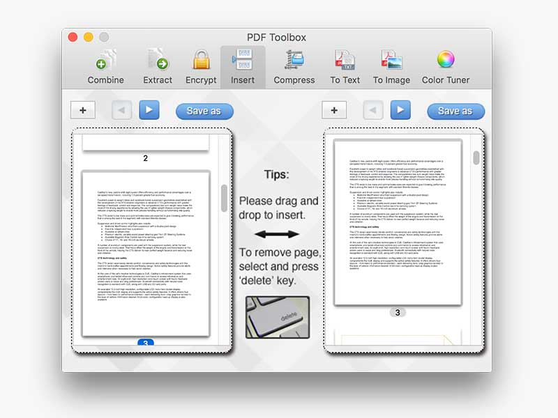 PDF toolbox for Mac screenshot 3