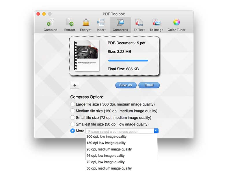PDF toolbox for Mac screenshot 4
