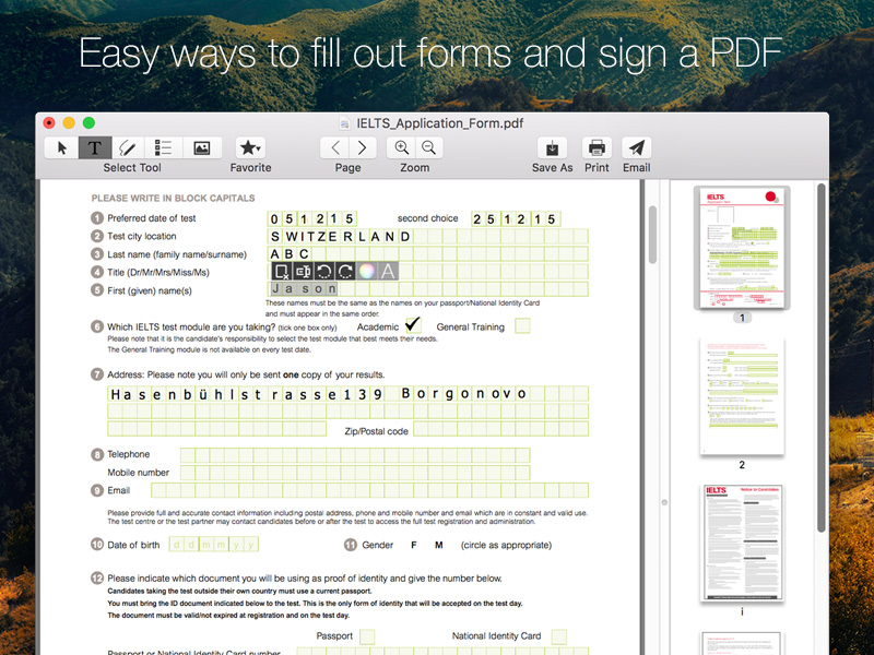 Sign PDF for Mac 2