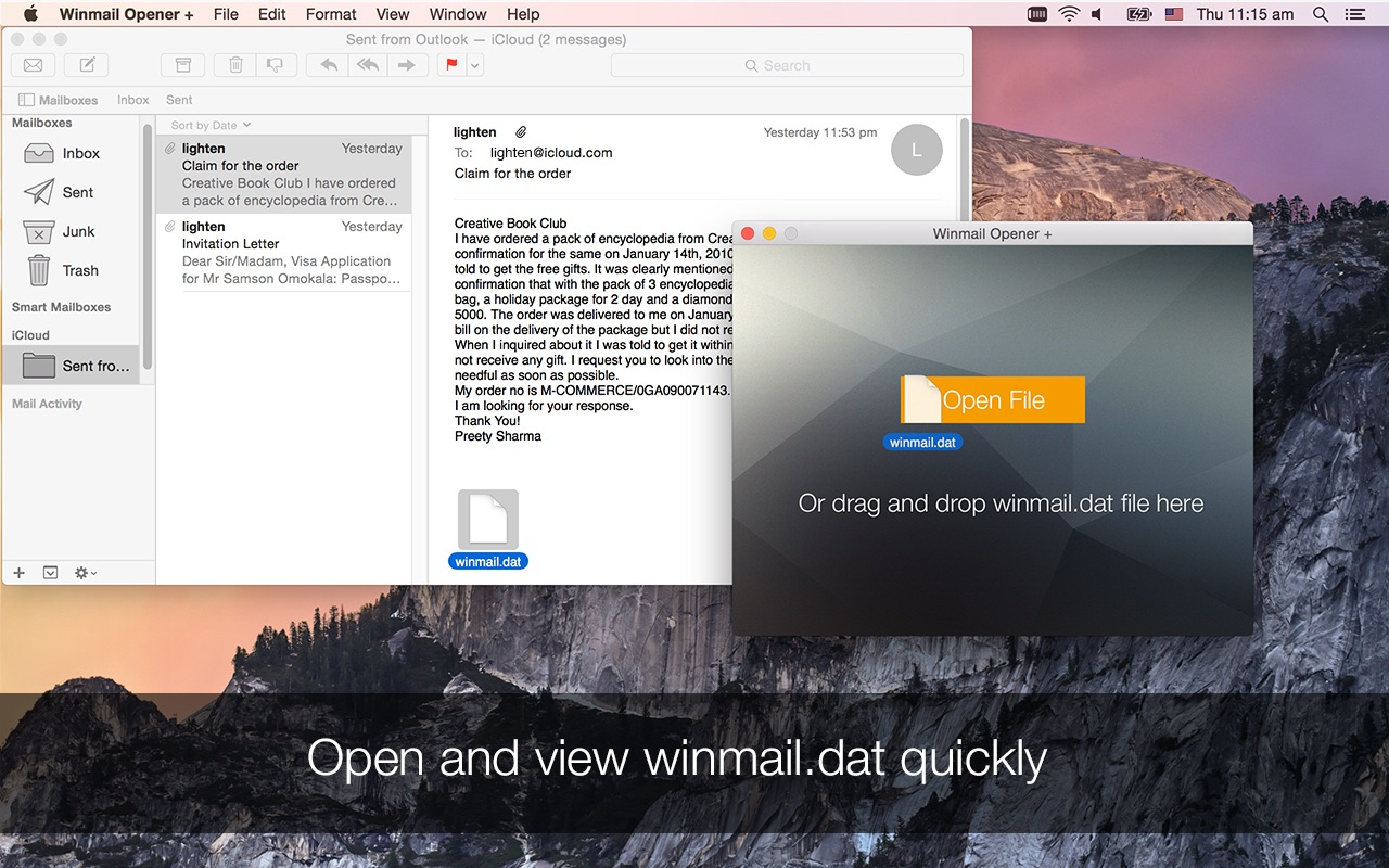 Winmail Opener for Mac Screenshot