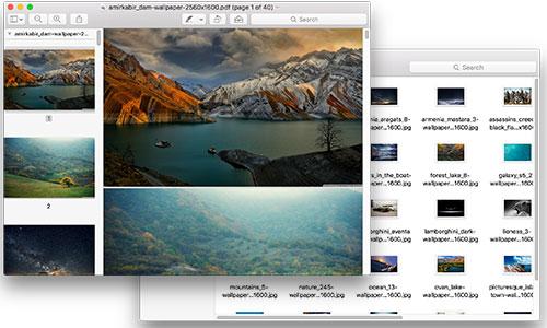 merge images in pdf on mac