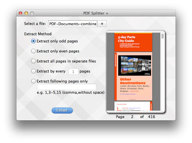 split pdf mac screenshot 1